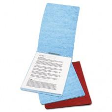 "Presstex Report Cover, Prong Clip, Letter, 2"" Capacity, Light Blue"