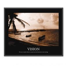 Vision Framed Sepia-Tone Motivational Print, 30 X 24