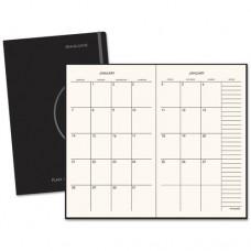 Monthly Planner, 7 1/2 X 10, Black, 2017