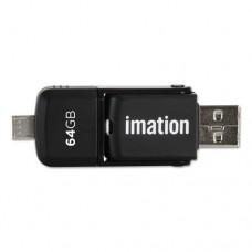 2-In-1 Micro Usb Flash Drive, 64gb, Black