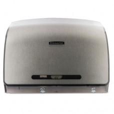 Coreless Jrt Tissue Dispenser, 14 1/10w X 5 4/5d X 10 2/5h, Brushed Metallic