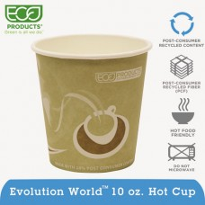 Evolution World 24% Recycled Content Hot Cups Convenience Pack - 10oz., 50/pk