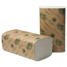 Ecosoft Singlefold Towels, Natural White, 250 Towels/pack, 16 Packs/carton