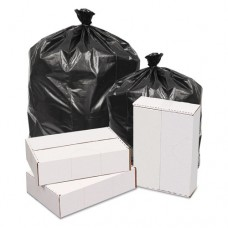 Waste Can Liners, 2mil, 43w X 43d X 47h, Black, 100/carton, 100/ct