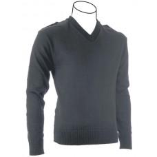 V-neck Military Pullover