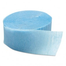 """Crepe Streamers, 1 3/4"""" X 81ft, Baby Blue, 12/pack, 12 Packs/carton"""