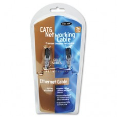 High Performance Cat6 Utp Patch Cable, 7ft., Gray