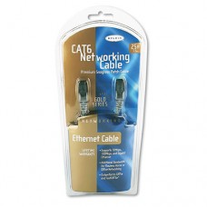High Performance Cat6 Utp Patch Cable, 25 Ft., Gray