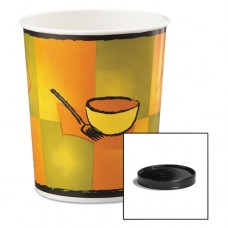 Soup Food Containers W/vented Lids, Streetside Pattern, 32 Oz, 250/carton