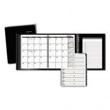 Plus Monthly Planner, 6 7/8 X 8 3/4, Black, 2017