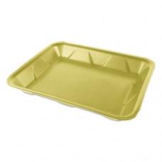 Processor/heavy Supermarket Tray, Yellow, 9 1/4x 7 1/4 X 1 1/8, 100/pk, 4 Pk/ct