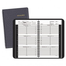 Weekly Appointment Book Ruled For Hourly Appointments, 4 7/8 X 8, Black, 2017