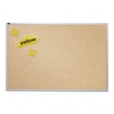 Vinyl Tack Bulletin Board, 48 X 48, White Surface, Silver Aluminum Frame