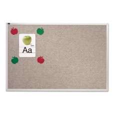 Vinyl Tack Bulletin Board, 12 Ft X 4 Ft, Gray Surface, Silver Aluminum Frame