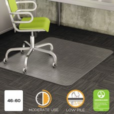 Duramat Moderate Use Chair Mat For Low Pile Carpet, Beveled, 46 X 60, Clear