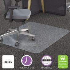 Clear Polycarbonate All Day Use Chair Mat For All Pile Carpet, 46 X 60