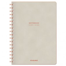 """Collection Twinwire Notebook, Legal, 7 1/4"""" X 9 1/2"""", Tan/red, 80 Sheets"""