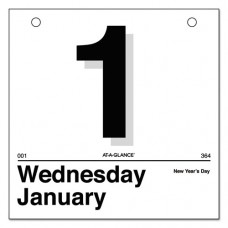 Today Is Daily Wall Calendar Refill, 6 X 6, White, 2017