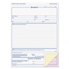 Contractor Proposal Form, 3-Part Carbonless, 8 1/2 X 11 7/16, 50 Forms
