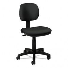 Vl610 Series Swivel Task Chair, Charcoal Fabric/black Frame