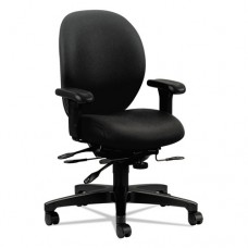 Unanimous Series High-Performance Mid-Back Task Chair, Black Fabric