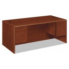 10700 Series Desk, 3/4 Height Double Pedestals, 72w X 36d X 29 1/2h, Henna Cy