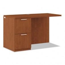 Arrive Left Return For Right Pedestal Desk, 48w X 24d X 29-1/2h, Henna Cherry