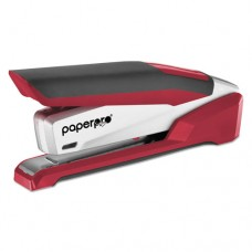 Inpower+ 28 Premium Desktop Stapler, 28-Sheet Capacity, Red/silver