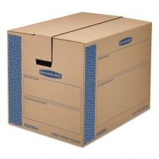 Smoothmove Prime Large Moving Boxes, 24l X 18w X 18h, Kraft/blue, 6/carton