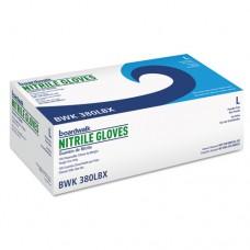Disposable General-Purpose Nitrile Gloves, Large, Blue, 100/box,