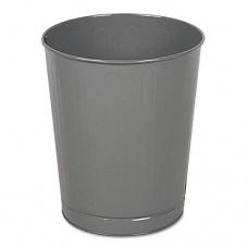 Fire-Safe Wastebasket, Round, Steel, 6 1/2 Gal, Almond, 6/carton