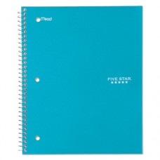 Wirebound Trend Notebook, 1 Subject, Legal Rule, 10 1/2 X 8, 100 Sheets, Teal