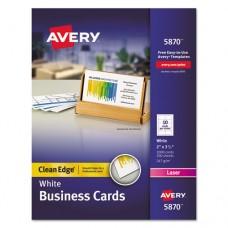 Clean Edge Business Card Value Pack, Laser, 2 X 3 1/2, White, 2000/box