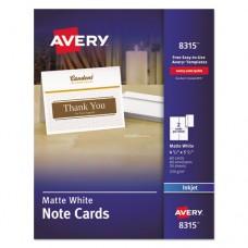 Note Cards For Inkjet Printers, 4 1/4 X 5 1/2, Matte White, 60/pack W/envelopes