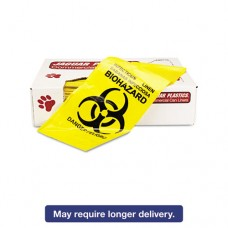 "Infectious Linen ""biohazard"" Can Liners 1.3mil, 30 X 43, Yellow, 200/carton"