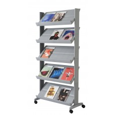 "Single sided ""XL"" literature display. Silver"