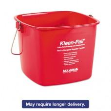 Kleen-Pail, 6qt, Plastic, Red, 12/carton