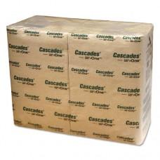 Cascades For Servone Napkins, 1-Ply, 6 1/2 X 4 1/4, Natural, 376/pk, 6016/carton
