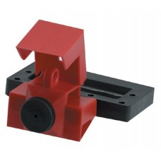 Oversized Breaker Lockout Devices, 6.7 in x 7.6 in, Red