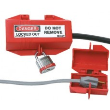 Plug Lockouts, 2 2/5 in x 3 1/2 in,  Red