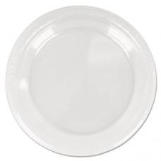 """Plastic Dinnerware, Plate, 9"""" Diameter, Clear, 20/pack, 12 Packs/carton"""