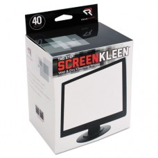 Two Step Screenkleen Wet And Dry Cleaning Wipes, 5 X 5, 40/box
