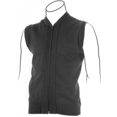 V-neck Zip Front Vest