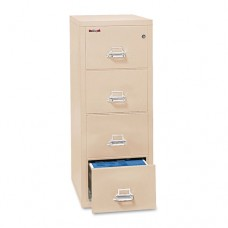 Four-Drawer Vertical File, 17-3/4w X 25d, Ul Listed 350, Letter, Parchment