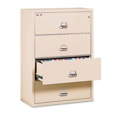 Four-Drawer Lateral File, 31-1/8 X 22-1/8, Ul Listed 350, Ltr/legal, Parchment