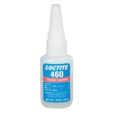 460 Prism Instant Adhesive, Low Odor/Low Bloom, 20 g, Bottle, Clear