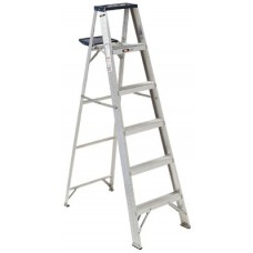 AS4000 Series Victor Aluminum Step Ladder, 6 ft x 21 1/2 in, 225 lb Capacity