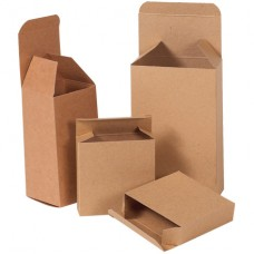 "7 1/4"" x 2"" x 7 1/4"" Kraft Reverse Tuck Folding Cartons"