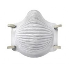 Airwave N95 Disposable Respirator with Latex Two-Strap, S, Nose Flange, 10/Box