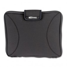 "Neoprene Laptop Sleeve, Fits To 15.6"", Zippered W/handles, Black"